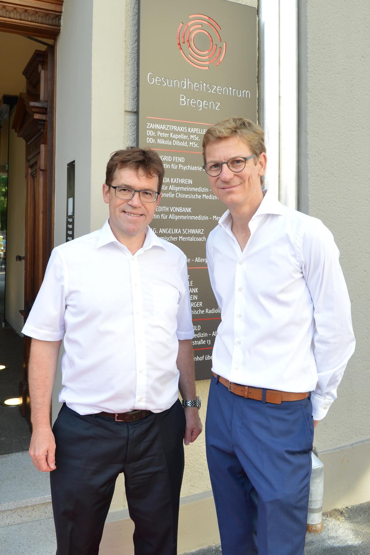 Gesundheitszentrum Bregenz Mag. Werner Braun und Mag. (FH) Armin Sautter © Sautter Büro Raum Konzept Christian Schramm