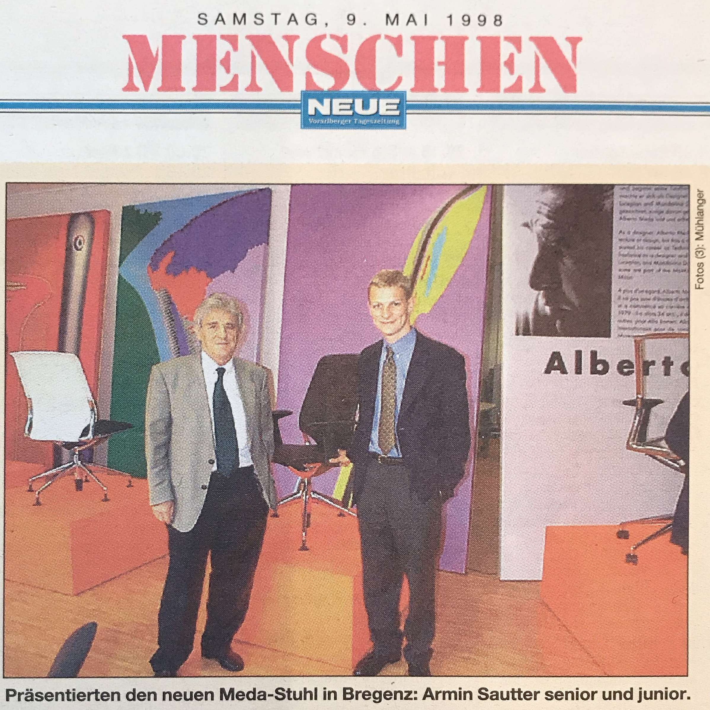 Dr. Armin Sautter sen. und Armin Sautter jun. Erich Sautter und Dr. Armin Sautter © Sautter Büro Raum Konzept Mühlanger
